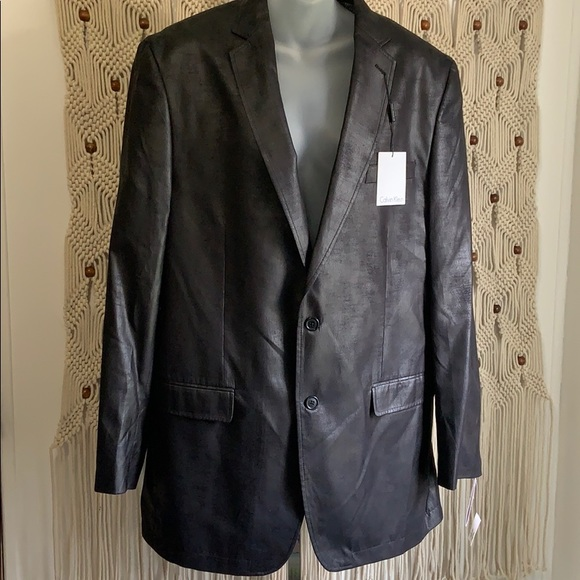 Calvin Klein Other - Calvin Klein suit jacket/blazer faux leather NWT